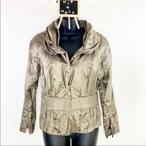 KENNETH COLE NEW YORK METALLIC BOMBER JACKET 2